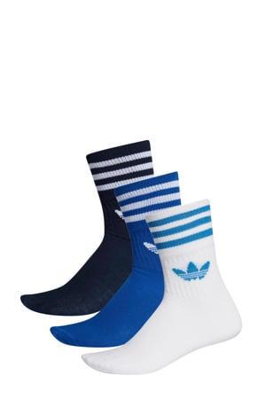 Adicolor sokken (set van 3 paar) blauw/wit