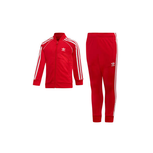 adidas originals Adicolor trainingspak rood