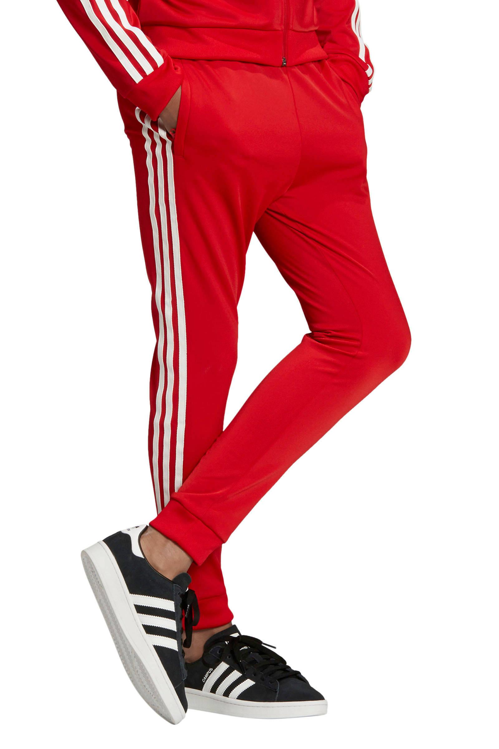 adidas Originals Adicolor trainingsbroek rood | wehkamp