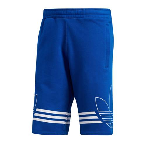 adidas originals sweatshort blauw