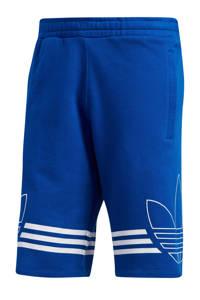 adidas Originals   sweatshort blauw, Blauw/wit
