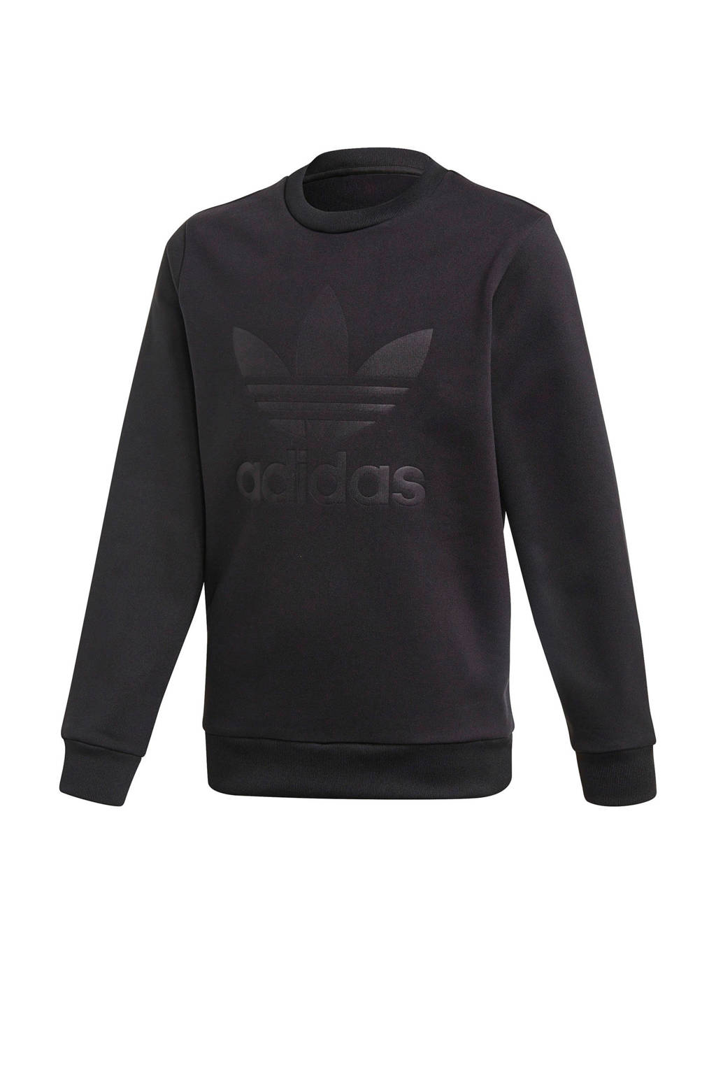 adidas Originals fleece sweater met logo zwart, Zwart