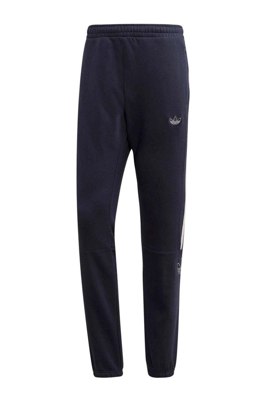 adidas Originals regular fit joggingbroek donkerblauw/wit, Donkerblauw/wit