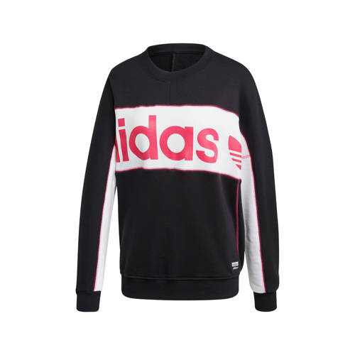 adidas originals sweater zwart-rood-wit