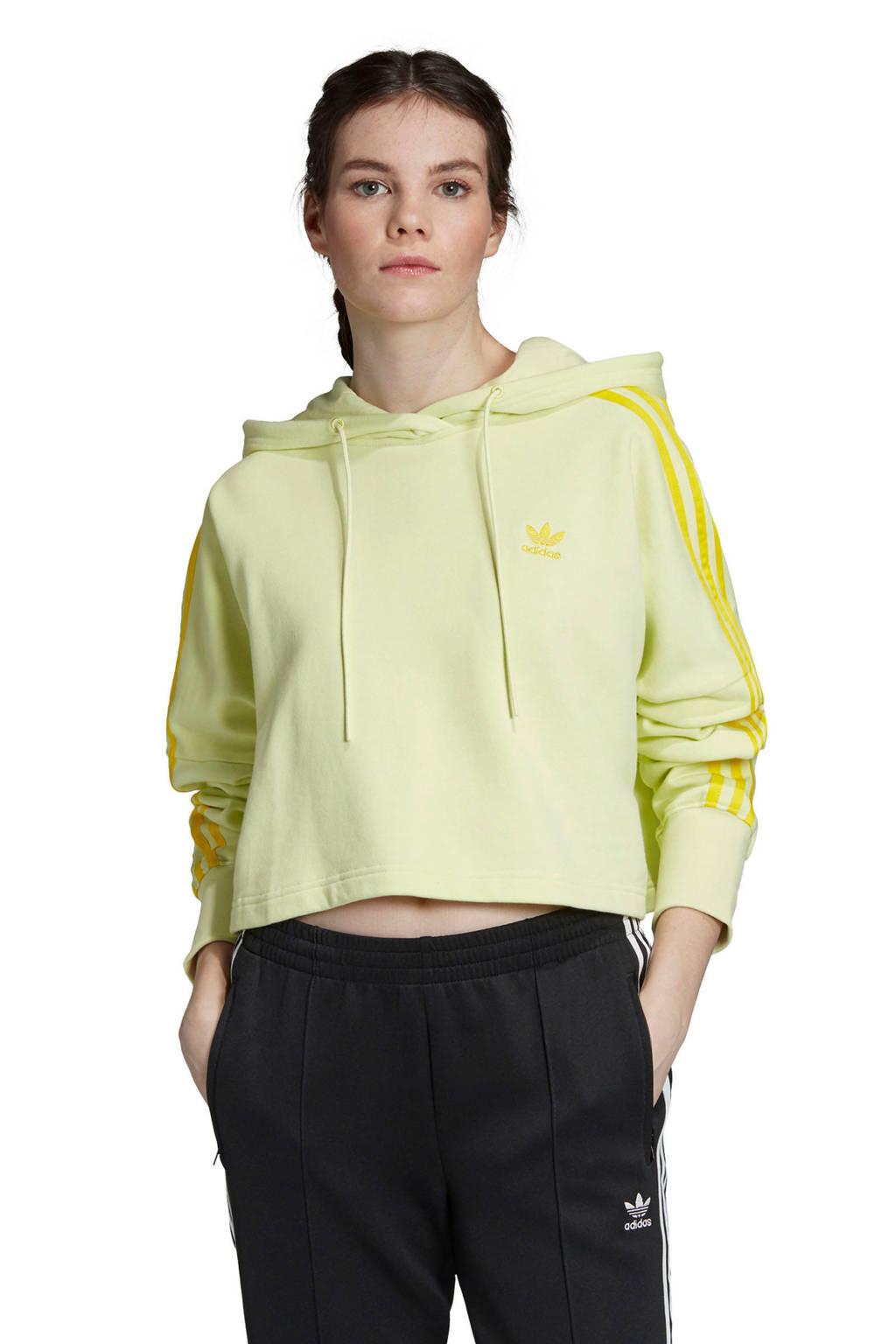 adidas originals Adicolor cropped sweater geel, Geel