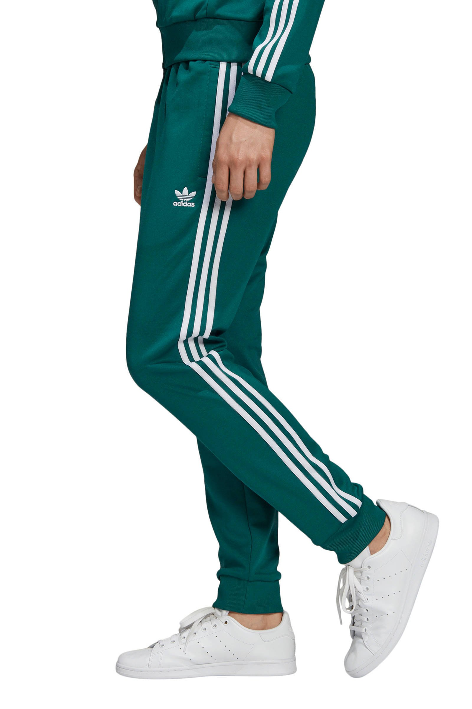 adidas Originals Adicolor trainingsbroek groen | wehkamp