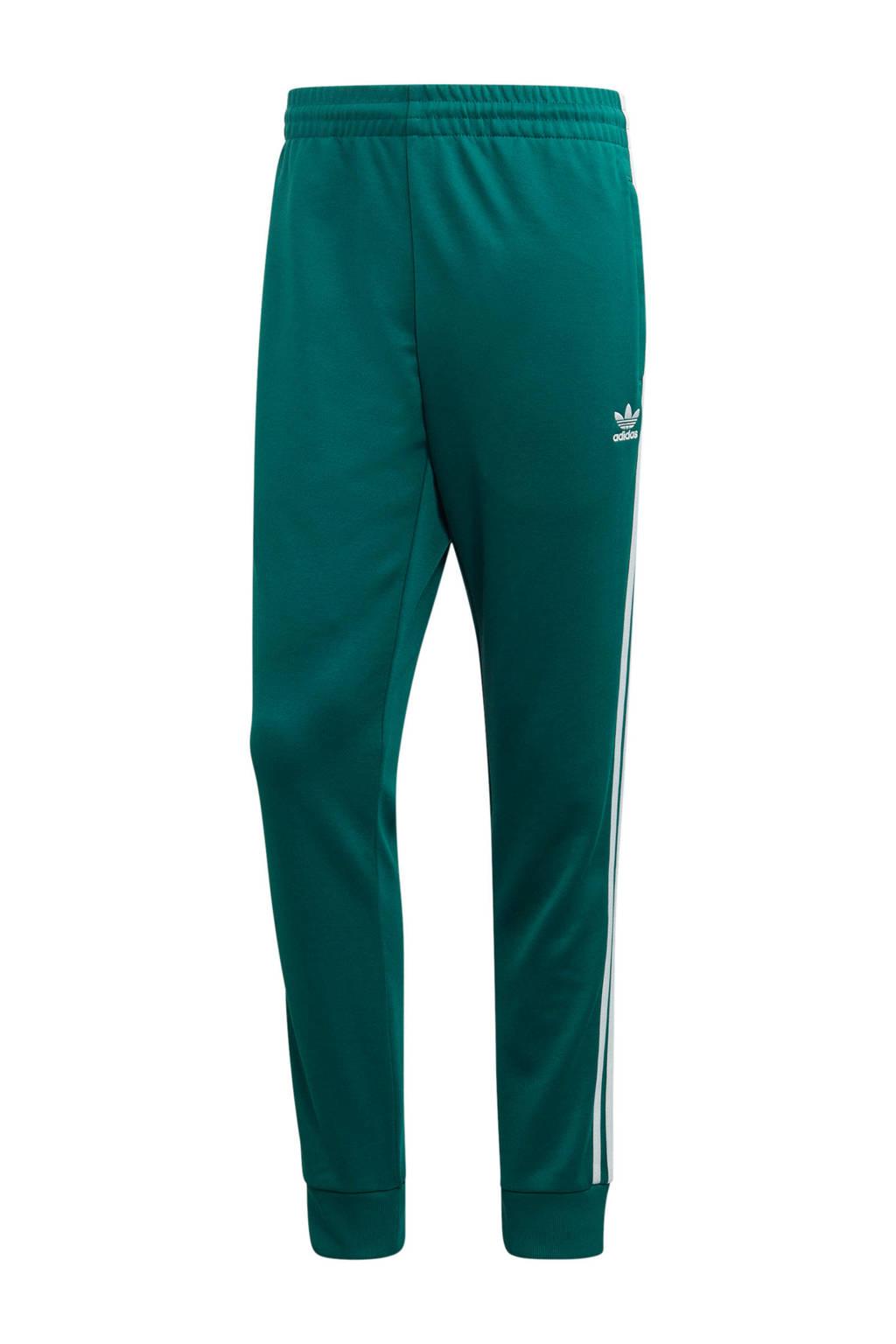 adidas originals Adicolor trainingsbroek groen, Groen/wit