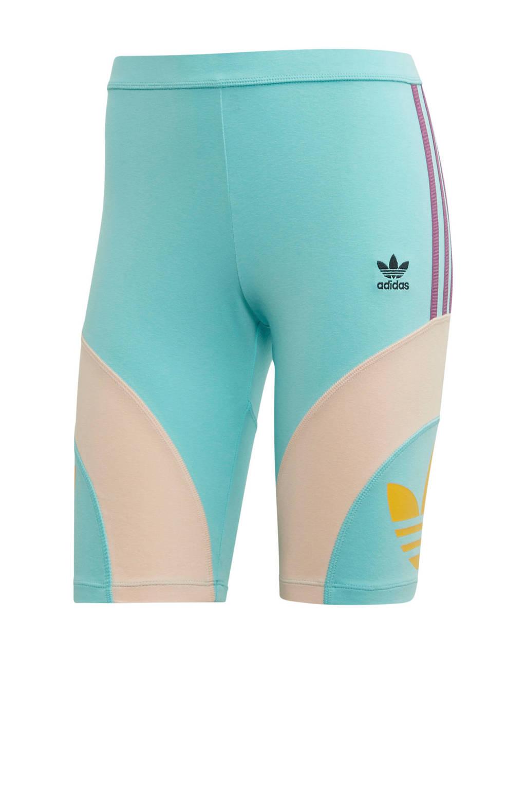 adidas originals cycling short blauw, Lichtblauw/roze