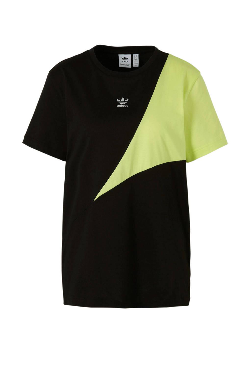 adidas originals T-shirt zwart/geel, Zwart/geel