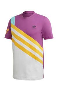 adidas Originals   T-shirt paars/geel/wit, Paars/geel/wit