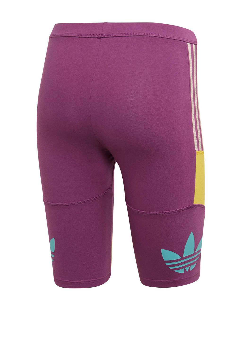 adidas originals cycling short paars/geel, Paars/geel