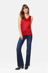 WE Fashion singlet met kant rood, Rood