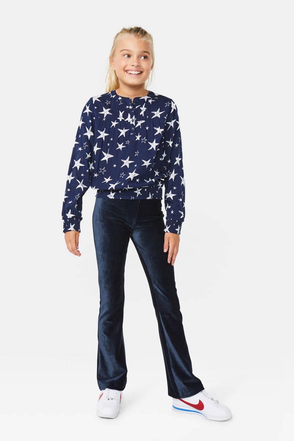 WE Fashion top met sterren deep blue, Deep blue