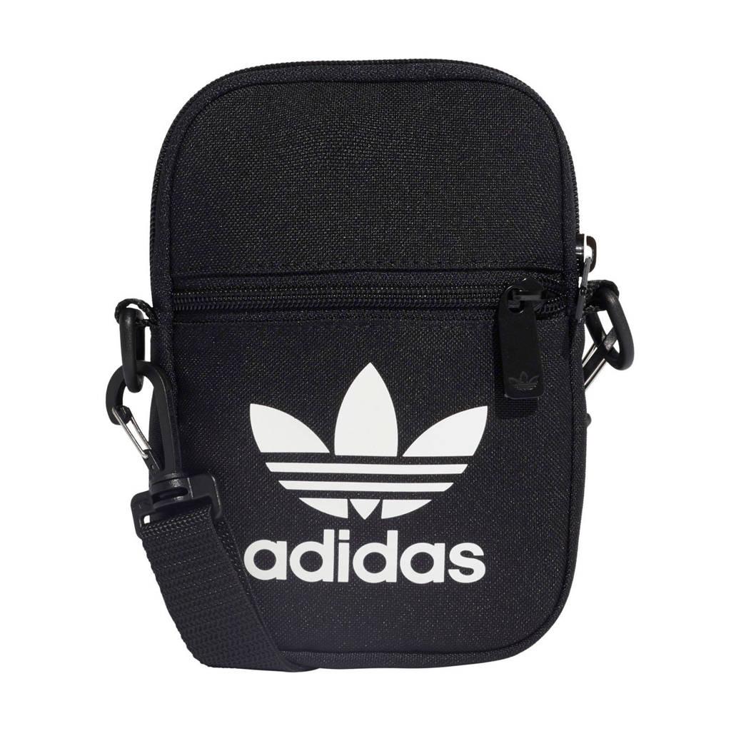 adidas Originals  Adicolor crossbody tas zwart, Zwart