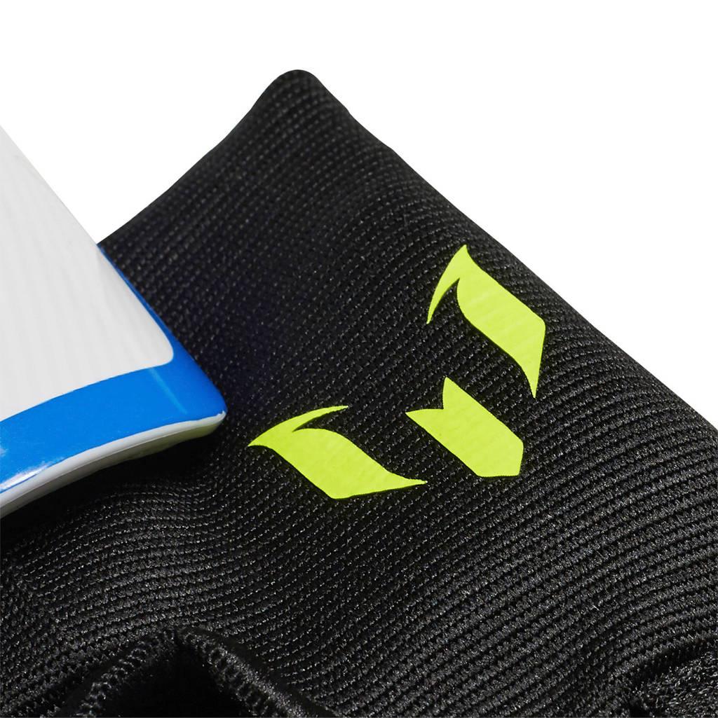 adidas   Youth Messi scheenbeschermers, Wit/zwart