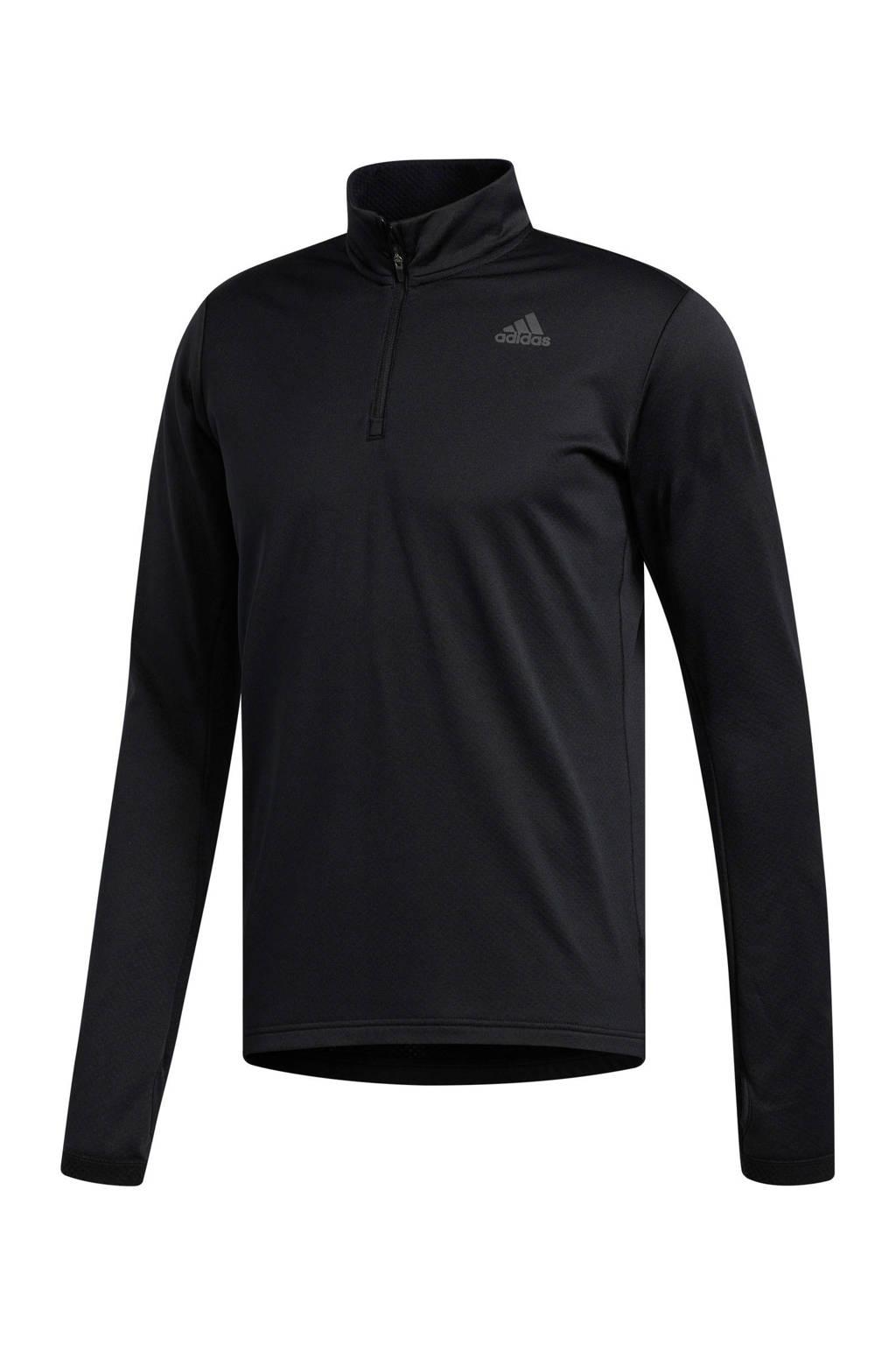 adidas   hardloopshirt zwart, Black