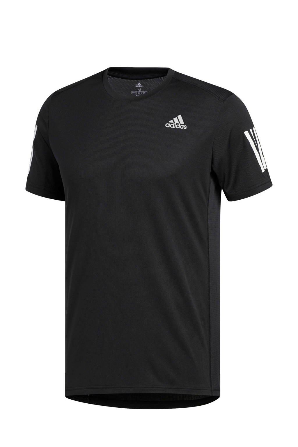 adidas   hardloop T-shirt zwart, Zwart/wit
