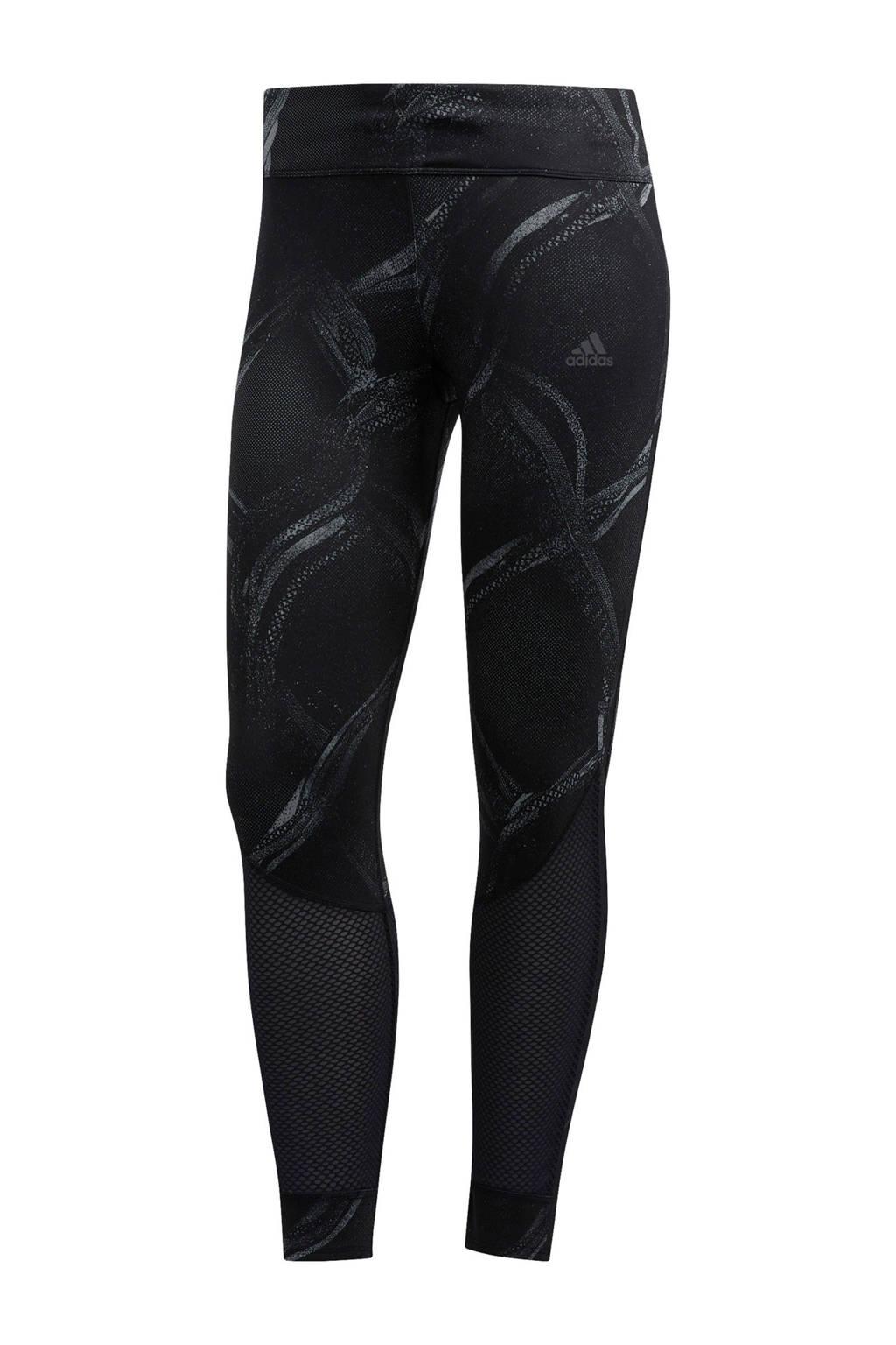 adidas Performance hardloopbroek grijs/zwart, Grijs/zwart