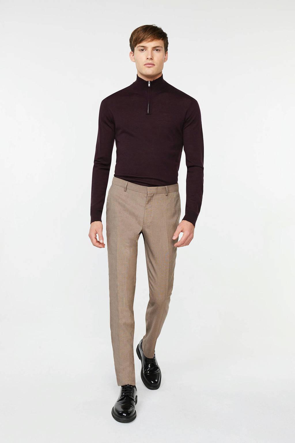 WE Fashion slim fit pantalon beige, Beige