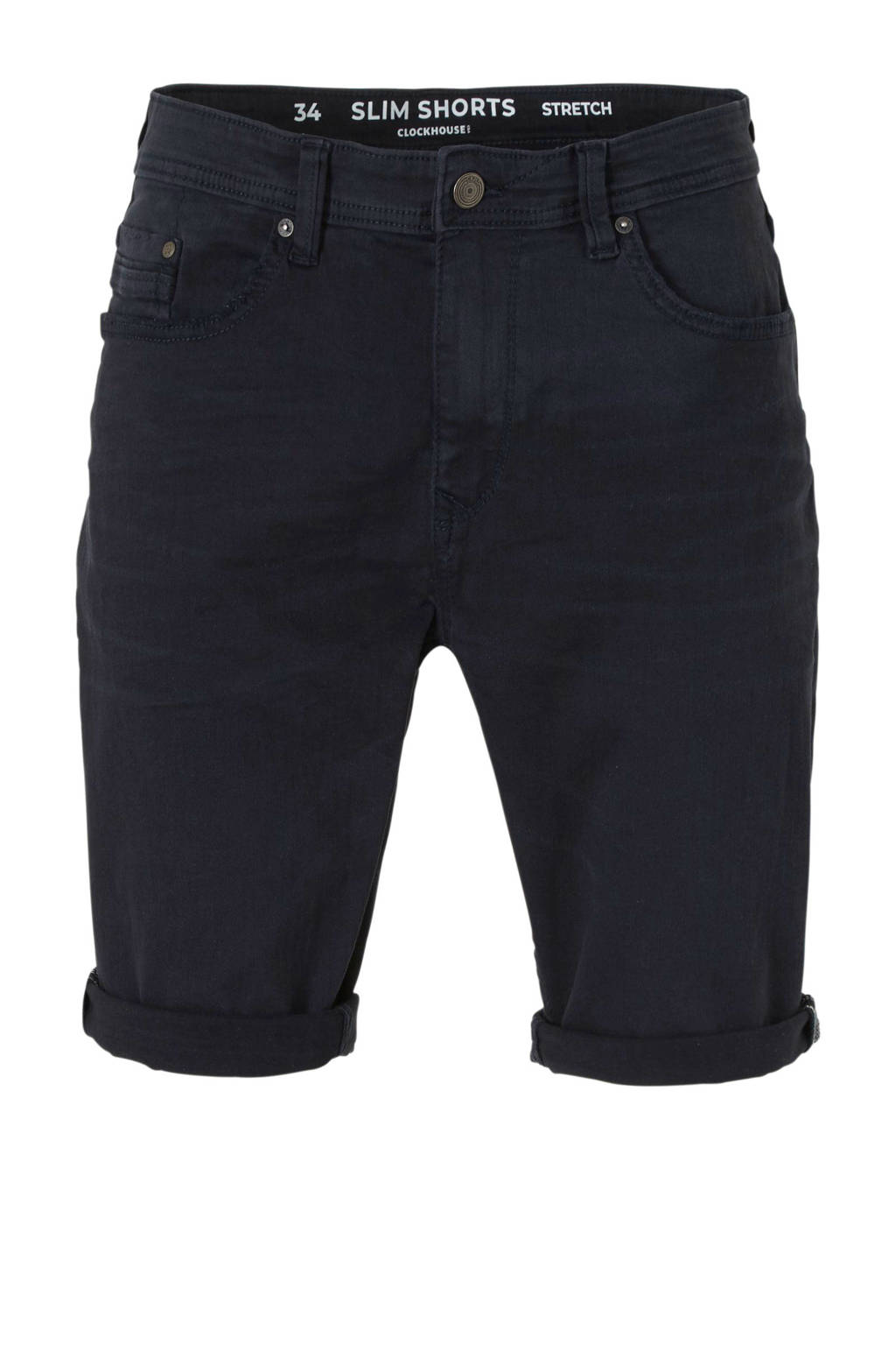 C&A Clockhouse regular fit jeans short, Donkerblauw