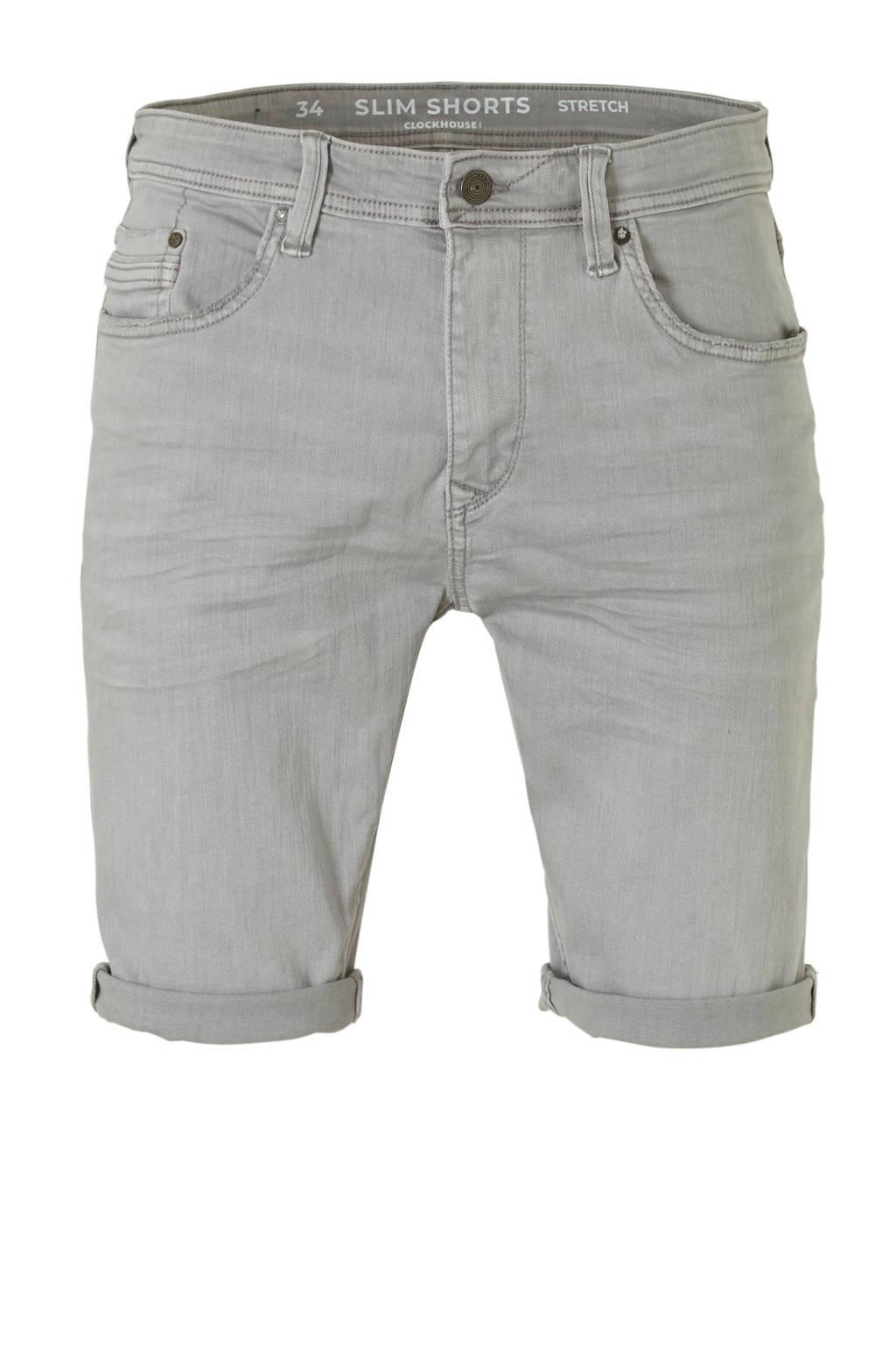 C&A Clockhouse regular fit jeans short, Grijs