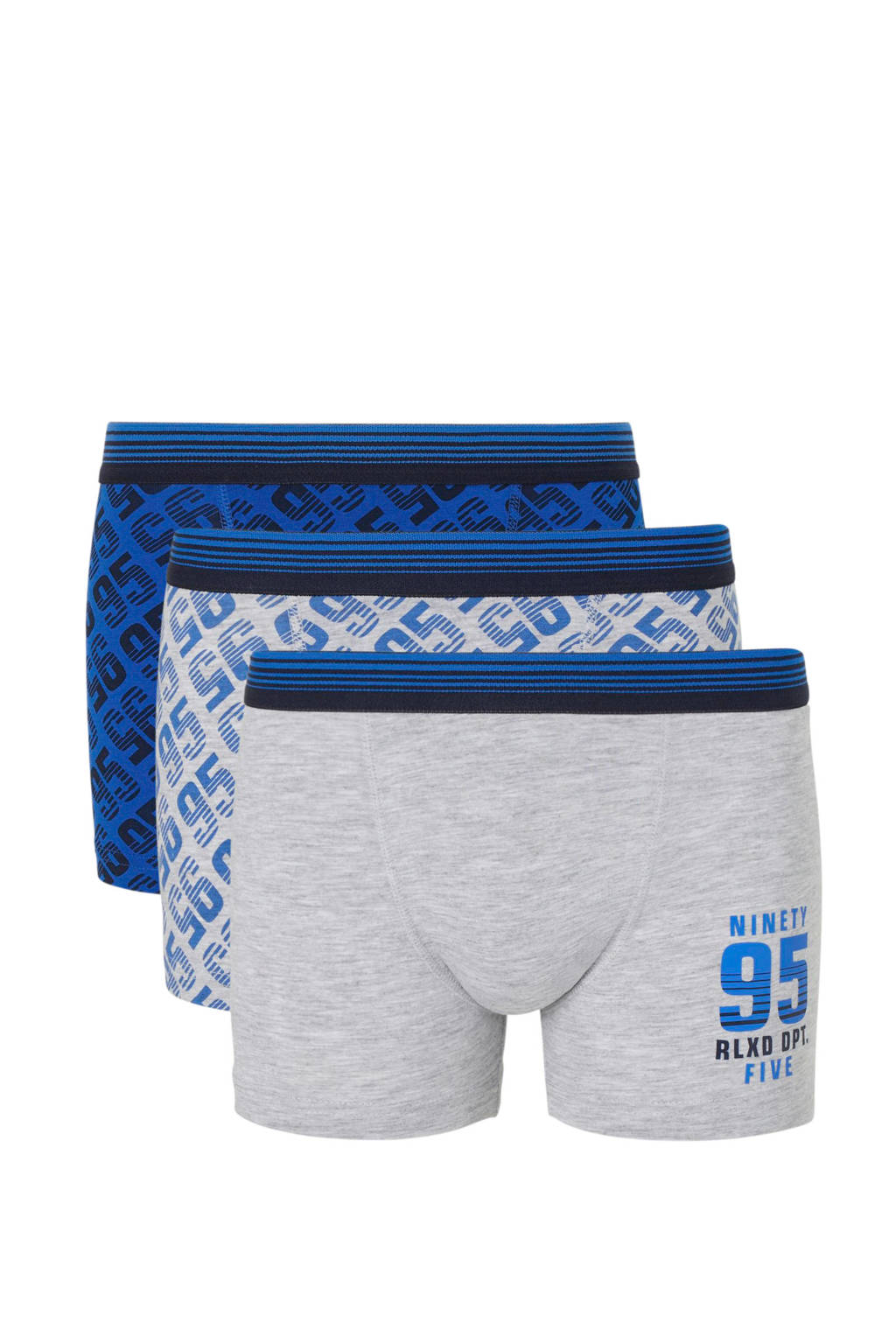 C&A Here & There   boxershort - set van 3, Blauw/grijs