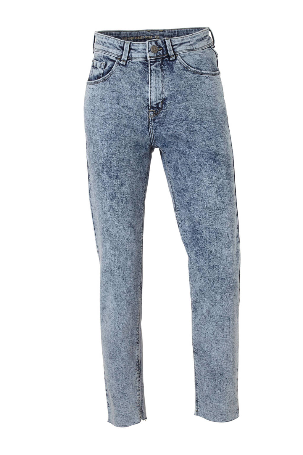 C&A Yessica cropped high waist slim fit jeans, Light denim
