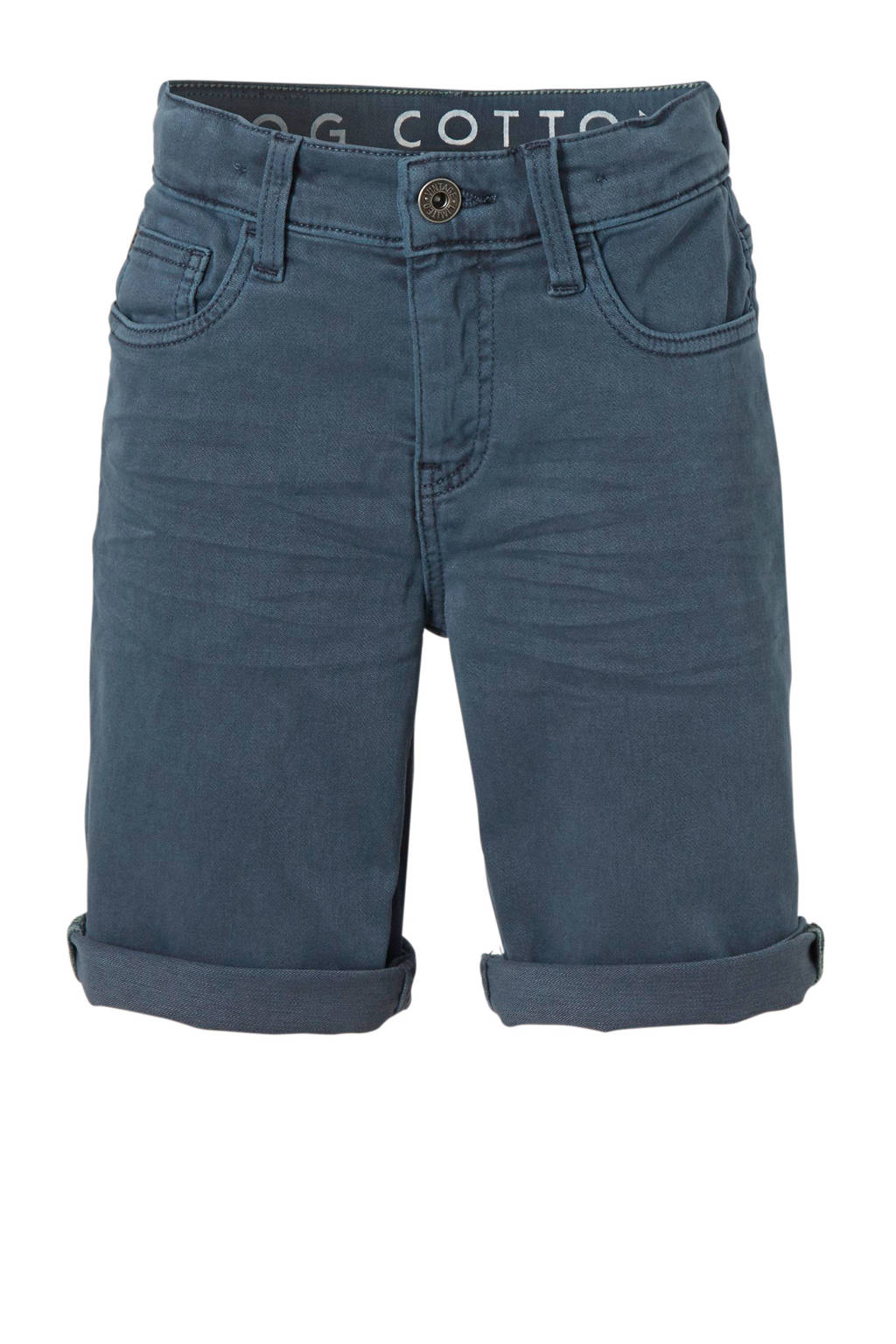 C&A Here & There straight fit jeans bermuda grijsblauw, Grijsblauw