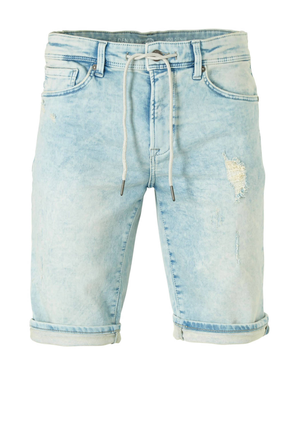 C&A The Denim regular fit jeans short lichtblauw, Lichtblauw