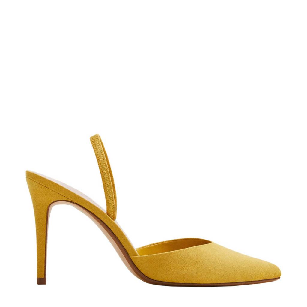 Mango slingback pumps geel, Geel