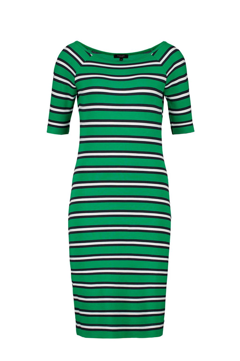 Claudia Sträter gestreepte jurk groen, Groen