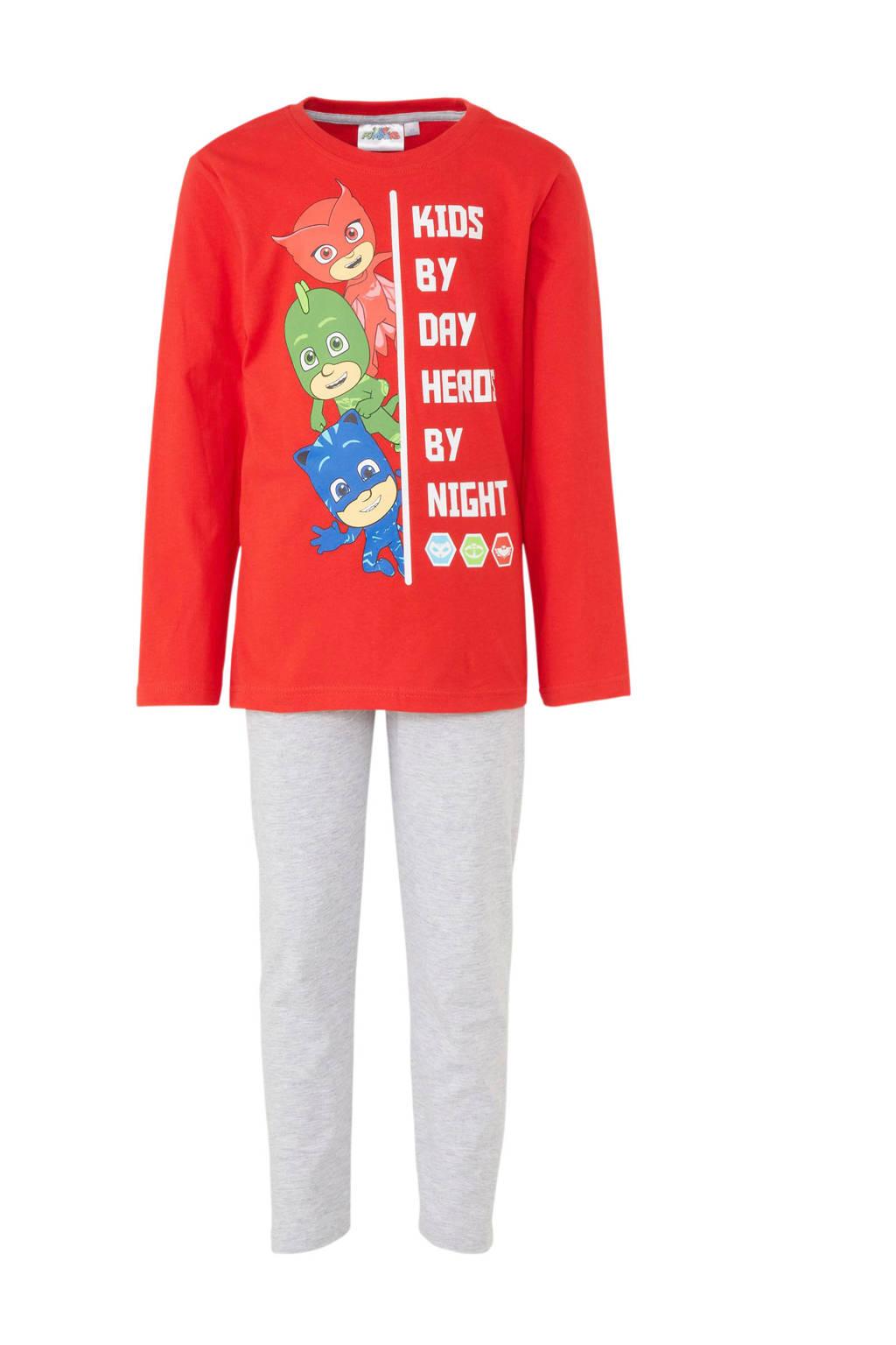 PJMasks pyjama, Rood/grijs
