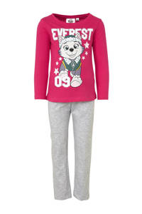 pyjama Paw Patrol, Fuchsia/ lichtgrijs melange