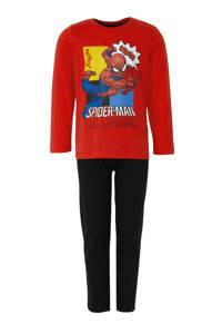 Spiderman pyjama rood, Rood/zwart