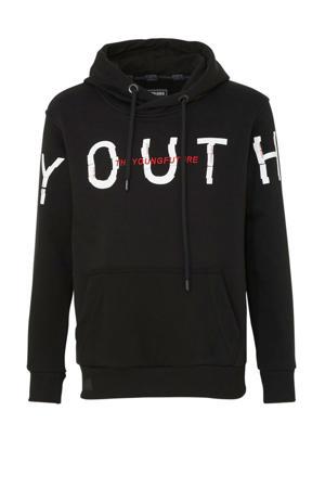 hoodie met tekst zwart