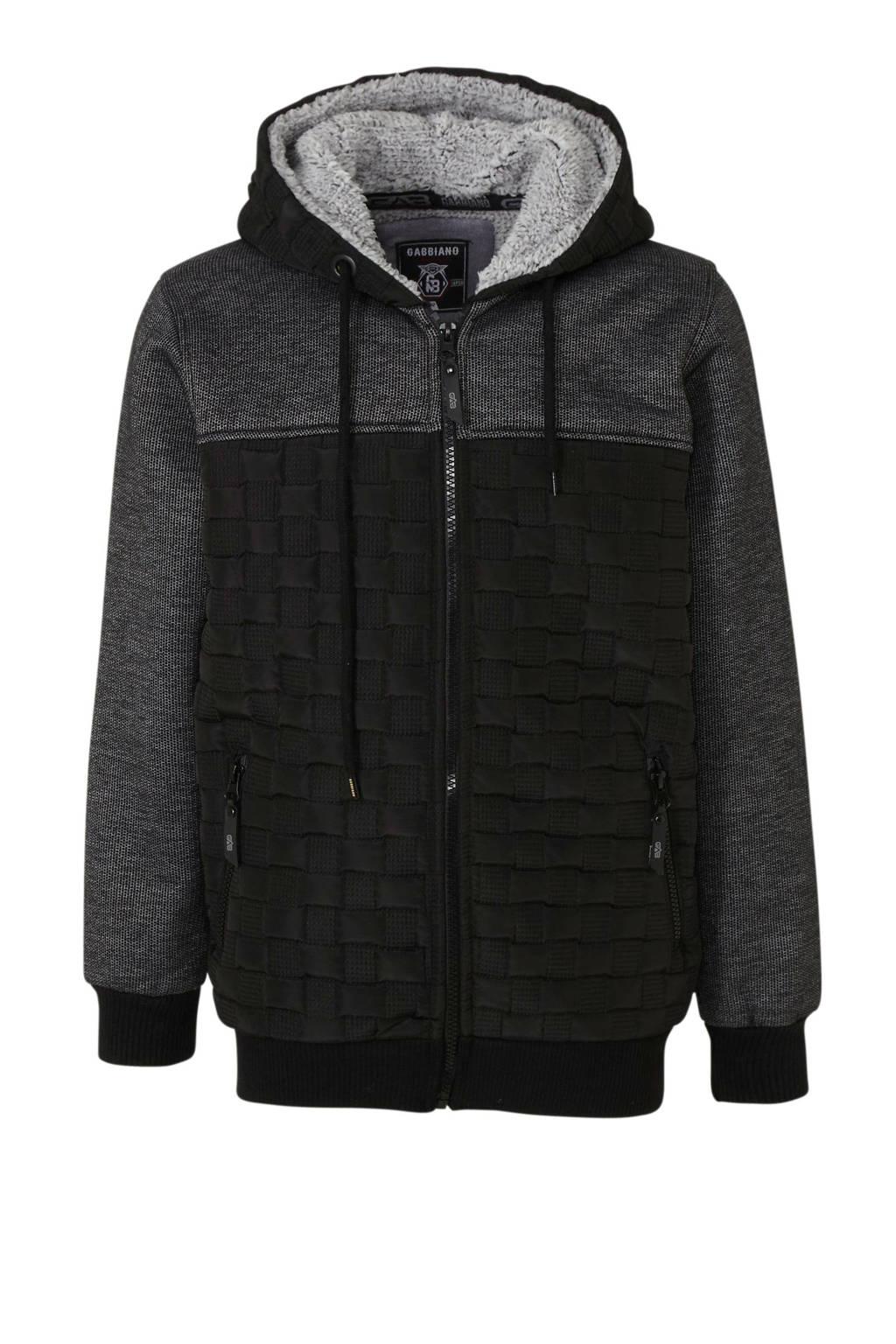 GABBIANO vest met all over print zwart/grijs, Zwart/grijs