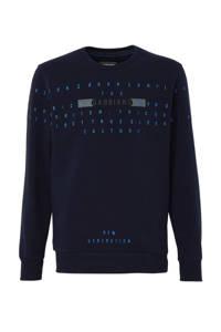 GABBIANO sweater met tekst en borduursels navy, Navy
