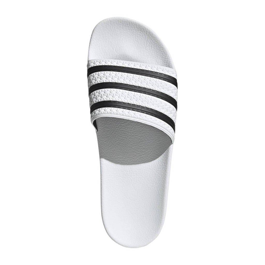 adidas Originals   Adilette badslippers wit/zwart, Wit
