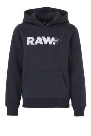 hoodie met tekst donkerblauw