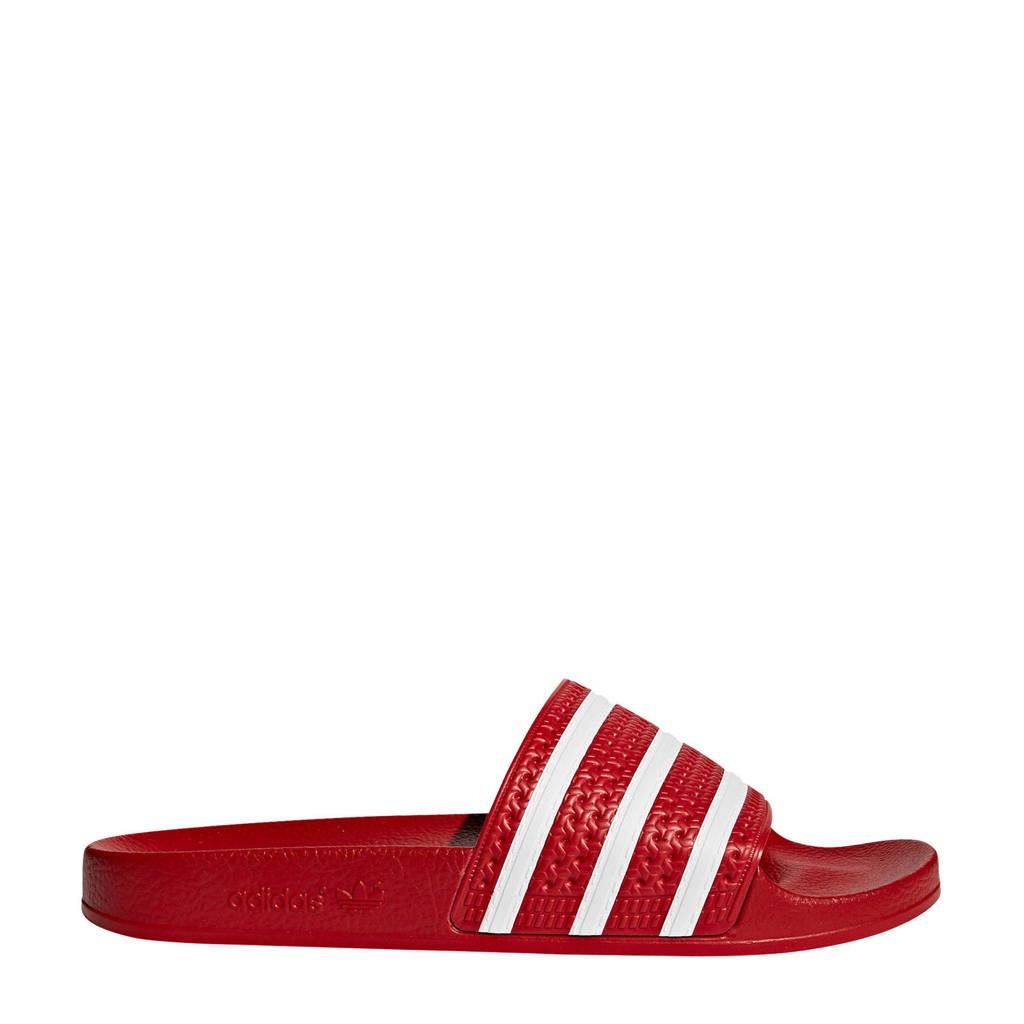 adidas originals Adilette badslippers rood, Rood