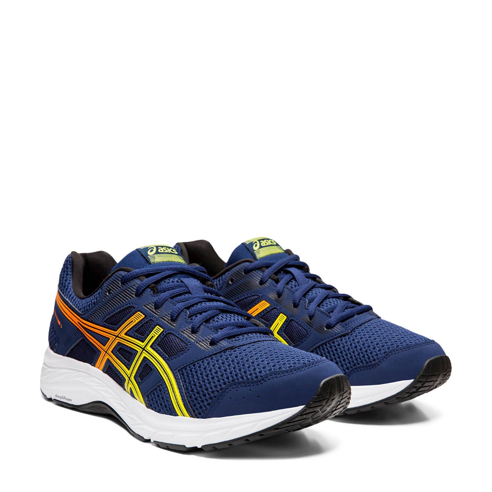 ASICS Gel-contend 5 hardloopschoenen donkerblauw | wehkamp