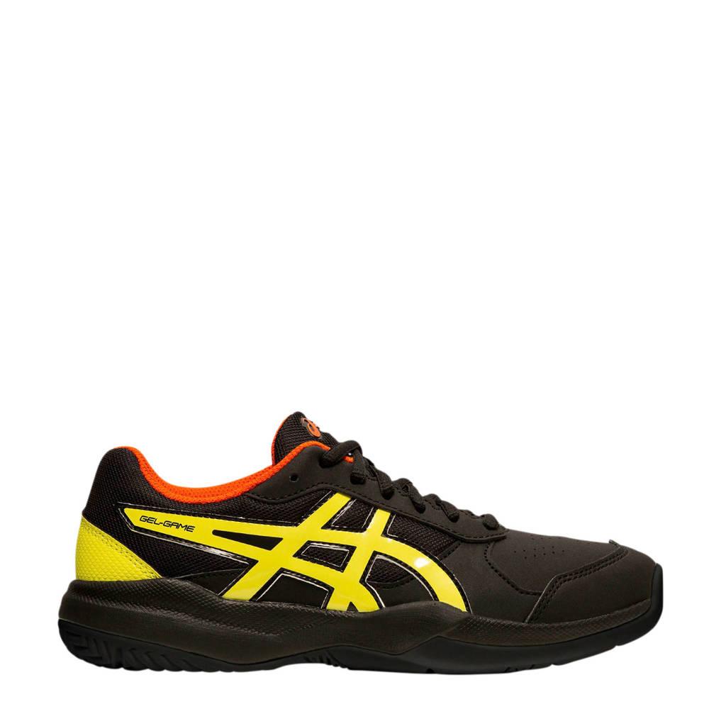 ASICS   Gel-Game 7 (GS) tennisschoenen zwart/geel jongens, Zwart/geel