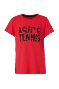 ASICS sport T-shirt fuchsia, Roze/zwart