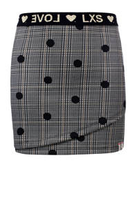 LOOXS little rok met stippen grijs/zwart, Grijs/zwart