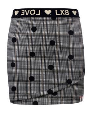 rok met stippen grijs/zwart