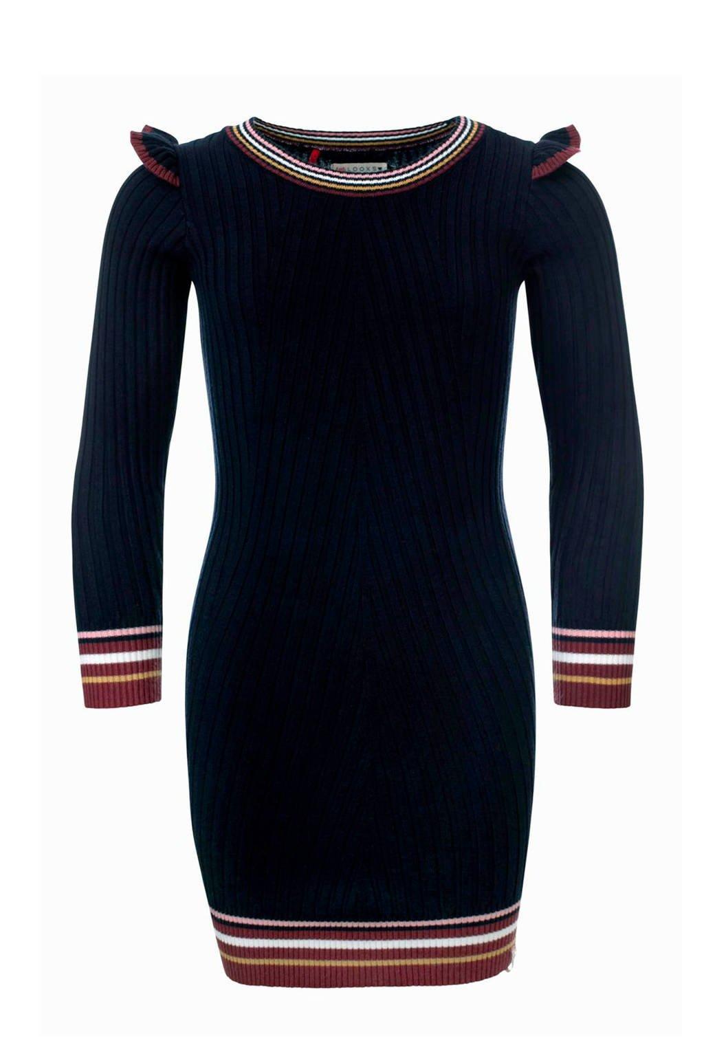 LOOXS Little gestreepte jurk marine, Marine