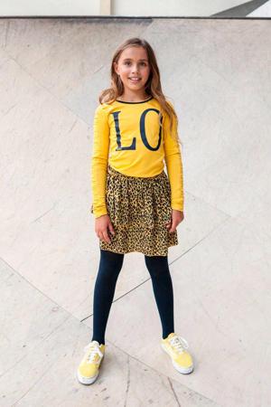 rok met panterprint geel/zwart