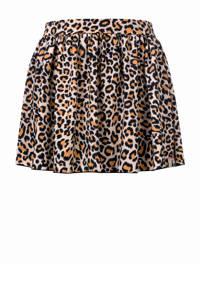 LOOXS Little rok met panterprint lichtbruin, Lichtbruin/zwart