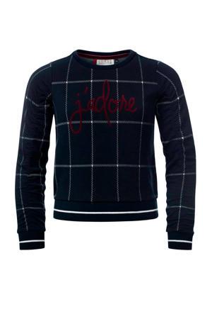 geruite sweater marine