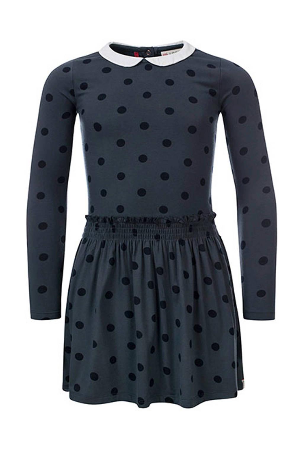 LOOXS Little jurk met stippen donkerblauw, Donkerblauw